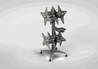 Carro porta-rollos de goma para Aluminio PRO 4 en Ventytec