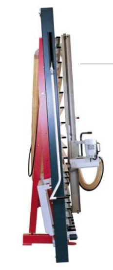 Tronzadora vertical para composite